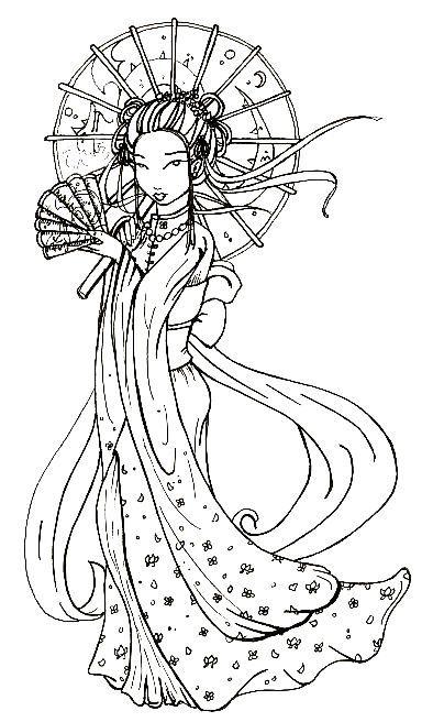 Japanese Geisha Tattoo Designs