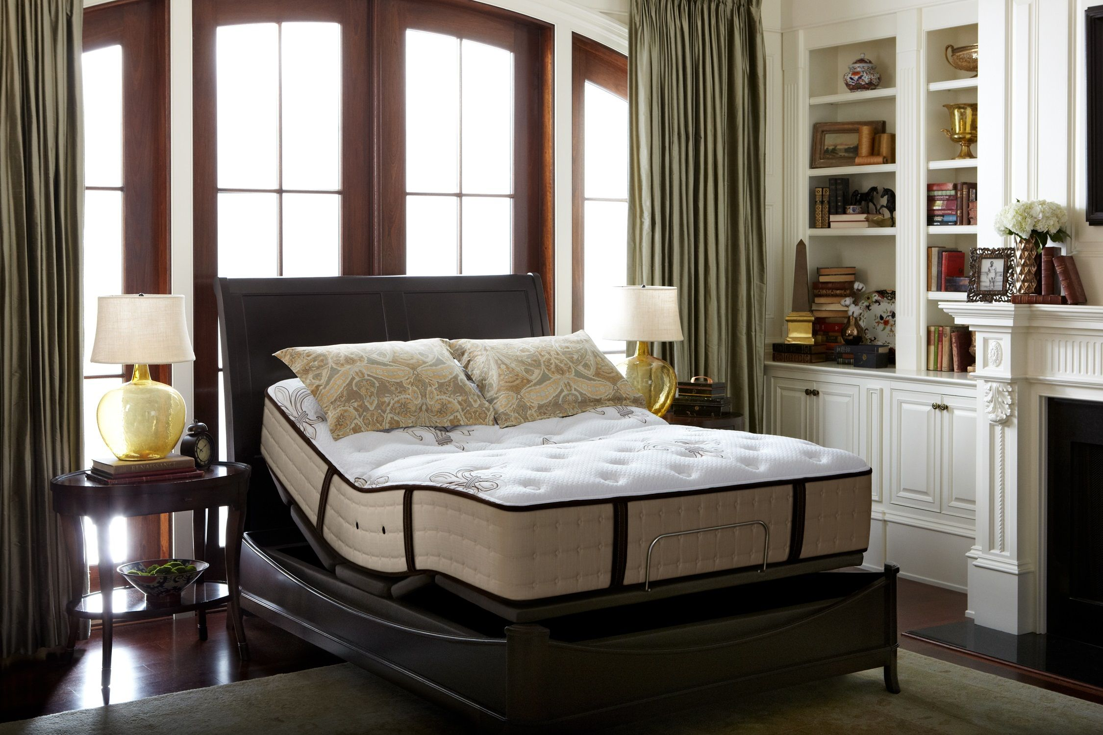 Queen Lakelet Ease Adj Set Foundations From Stearns Foster At Furniture California King Stearns Foster