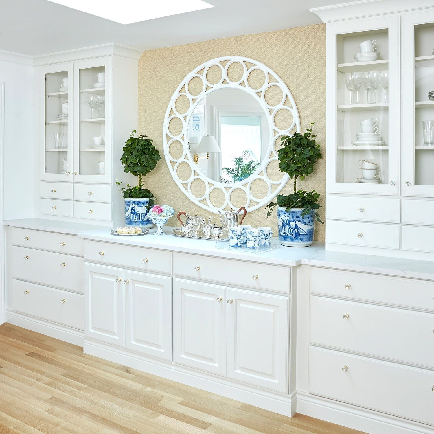 This Beautiful Hutch Spans An Entire Dining Room Wall