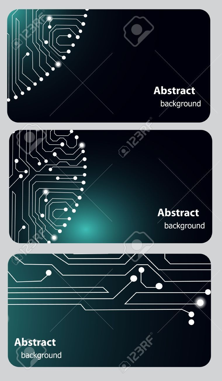 13008282-Busitess-card-templates-with-Circuit-board-Stock-Vector ...