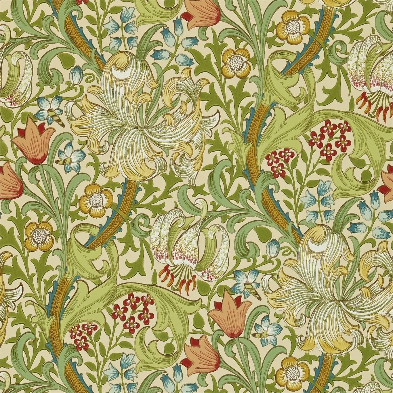 Morris and Co Wallpaper Volume II Golden Lily Collection DMI1G3102 ...