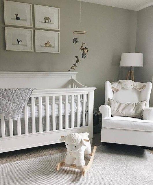Larkin 4-in-1 Convertible Crib | Nursery baby room, Grey ...