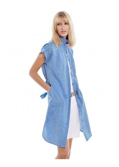 Lush Crossdye Linen Yvonne Dress and High Twist Twill City Short
