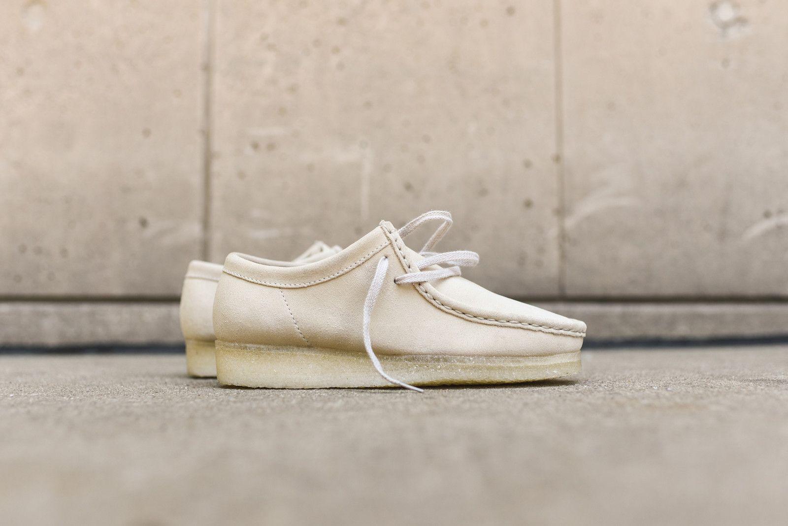 1284953a White Clarks Wallabee... | F/W 16 | Clarks, Footwear, Off white