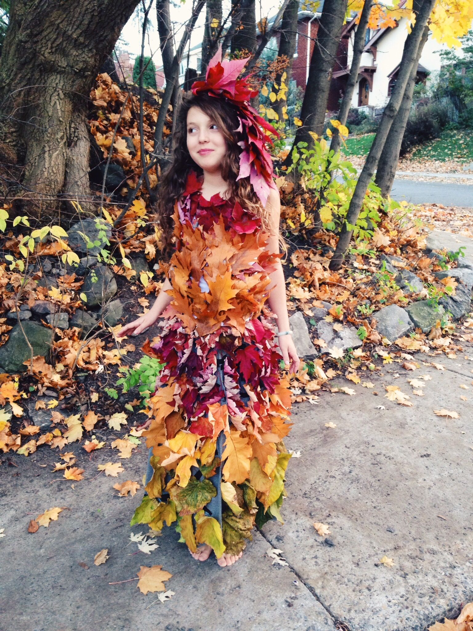 Make Your Own Mother Nature Leaf Dress A Compostable Zero