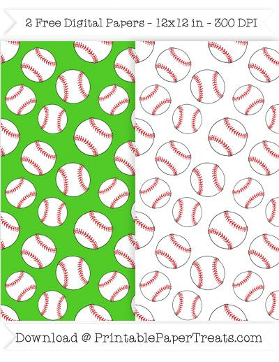 free printable baseball digital papers sports pattern papers