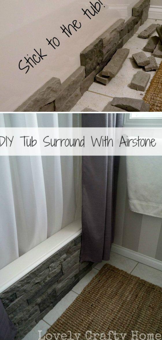 Stone Veneer Bathtub | Crafts, tips and DIY in 2019 | Diy ...