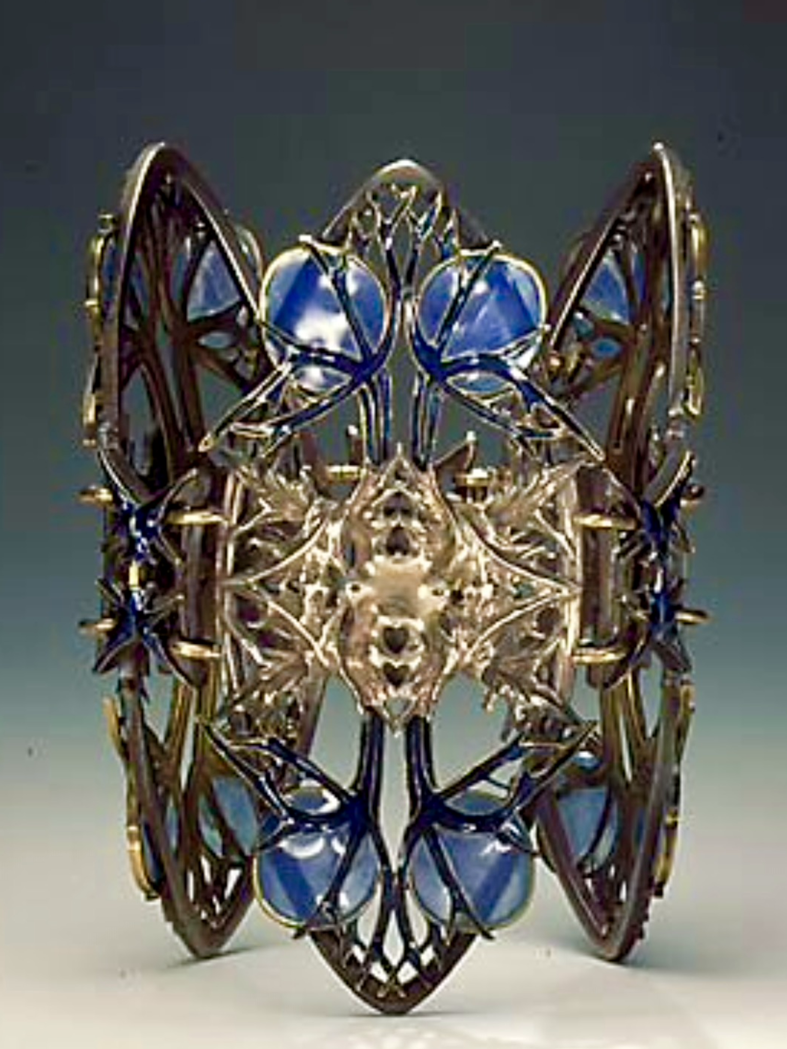 Lalique 1900 Thistle Bracelet: silver/ gold/ enamel - liveinternet.ru