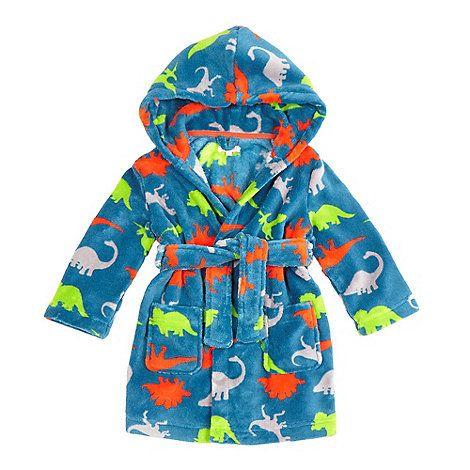 bluezoo Boys\' blue dinosaur print dressing gown   Debenhams   Ollie ...