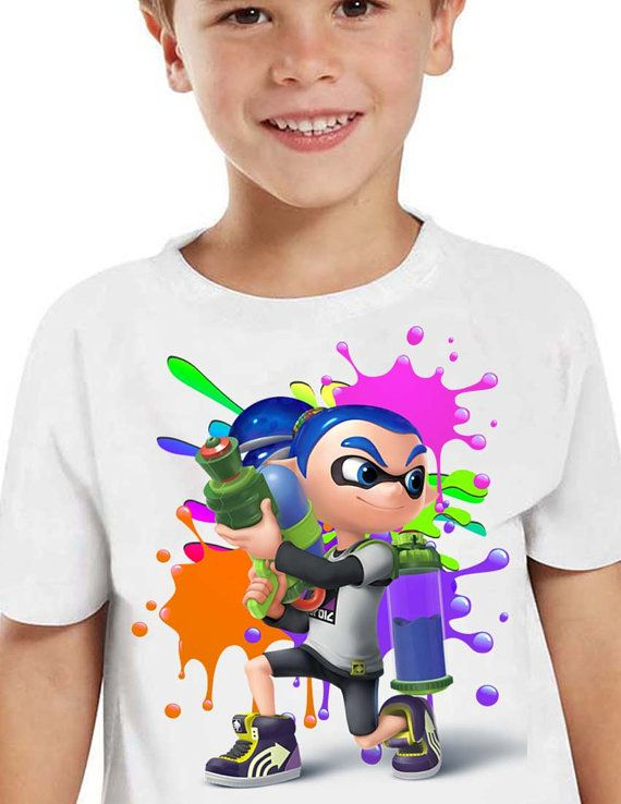 Splatoon Shirt Splatoon  Iron On Transfer  by HappyKidsPrint