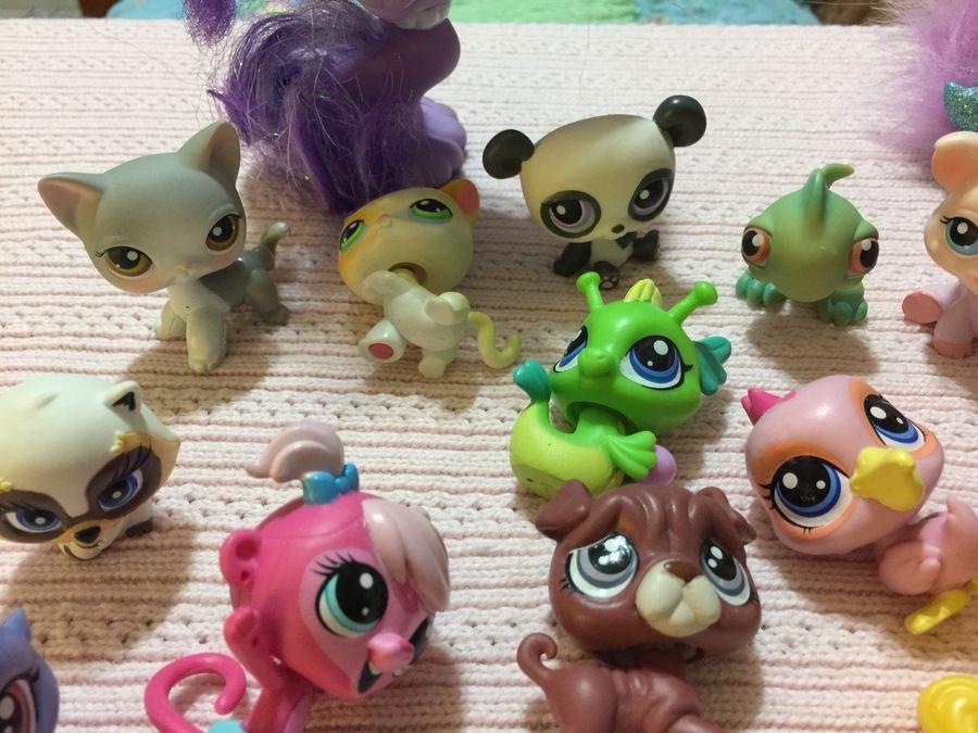 2pcs Littlest Pet Shop LPS Bird Mini Figure Toy