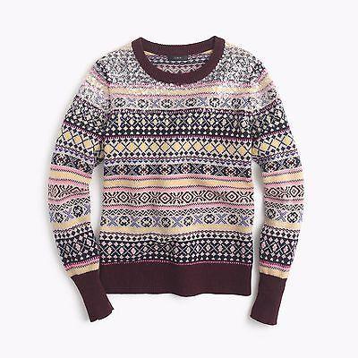 NWT J.CREW Sequin Fair Isle Lambswool Sweater ≈ Size XS ...