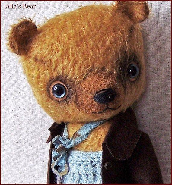 by Alla Bears MOHAIR 10.5 original artist Teddy Bear by AllaBears, $324.00