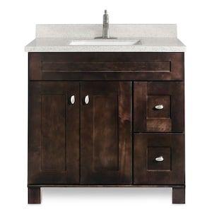 31-in Dune Solid Surface Bathroom Vanity Top Lowes.com in ...