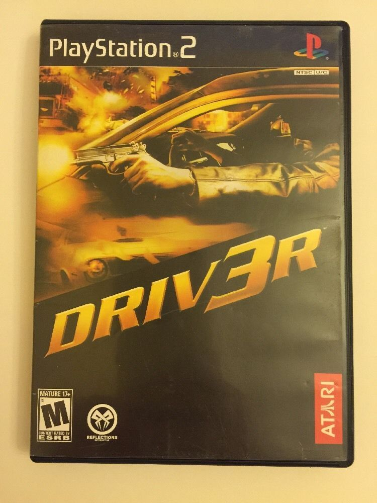 Playstation 2 Lot Of 3 Games Driv3r Ford Racing 3 Crazy Taxi