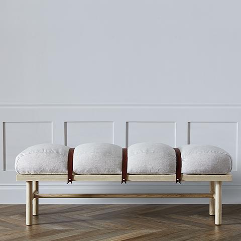 Safari Bench 60 White Oak Natural In Stock Furniture Bench Furniture Leather Headboard