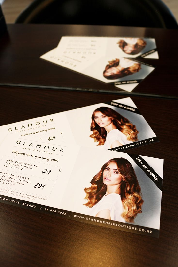 Printed dle flyers advertising glamour hair boutique salon in printed dle flyers advertising glamour hair boutique salon in albany auckland new zealand blog post by design by cheyney showcasing design col reheart Image collections