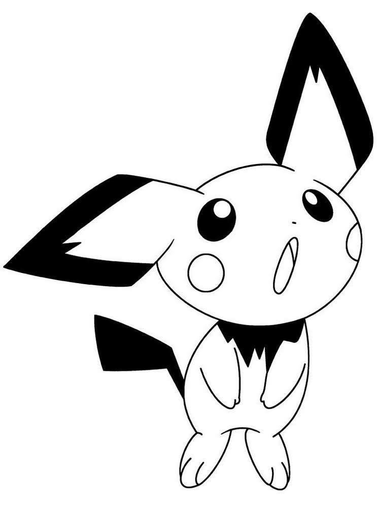 Pokemon Coloring Pages Pichu Portraits