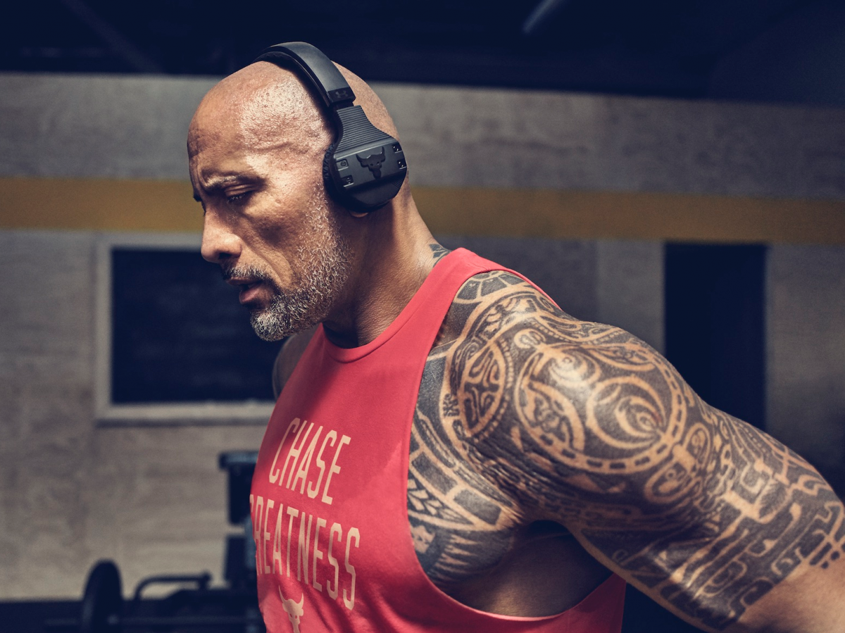 Dwayne Johnson Teamed Up With Under Armour And Jbl To Make Wireless Headphones That Won T Fall Off When You Work Out Here S What They Re Like Business Inside