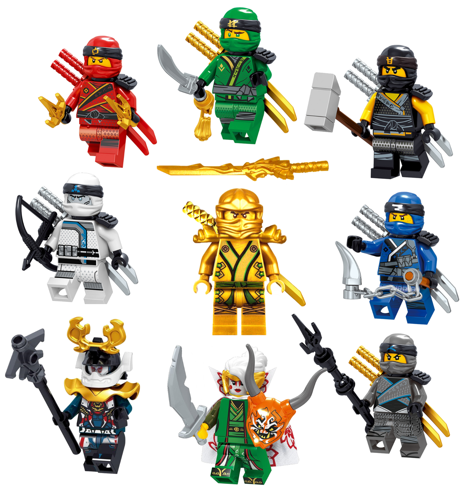 Lego Ninjago Figur Nya /& Zane Minifiguren