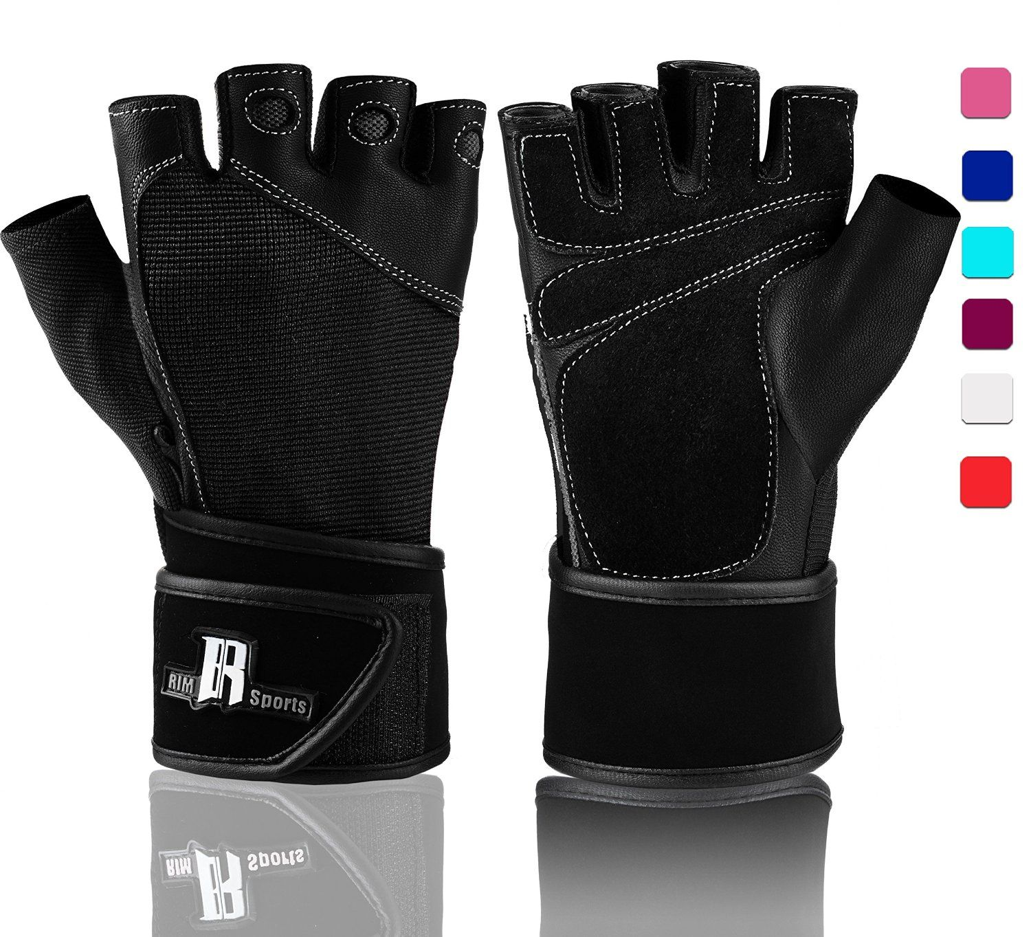 Black Weight lifting Gym Gloves Training Fitness Yoga Exercise Workout Cycling