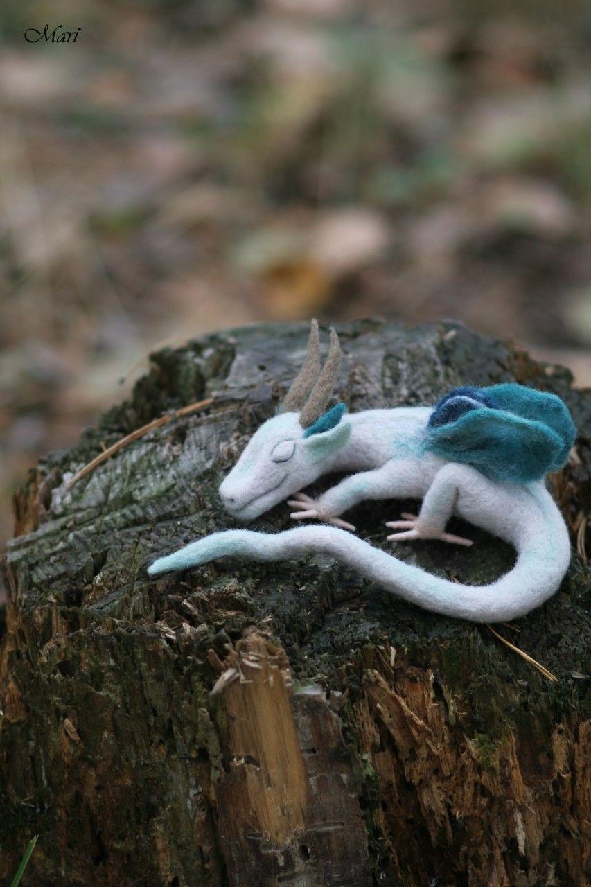 felted dragon #feltdragon #felteddragon #forestdragon #dragonart #buydragon #feltedanimal #feltdragon
