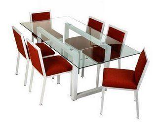 Mesas de vidrio para comedores mesas pinterest mesa for Mesas de comedor de vidrio