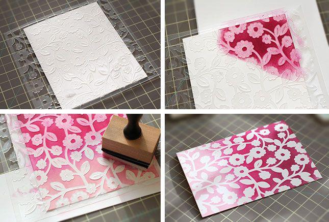 Flower Stencil Mother's Day Card | Kalyn Kepner for Silhouette