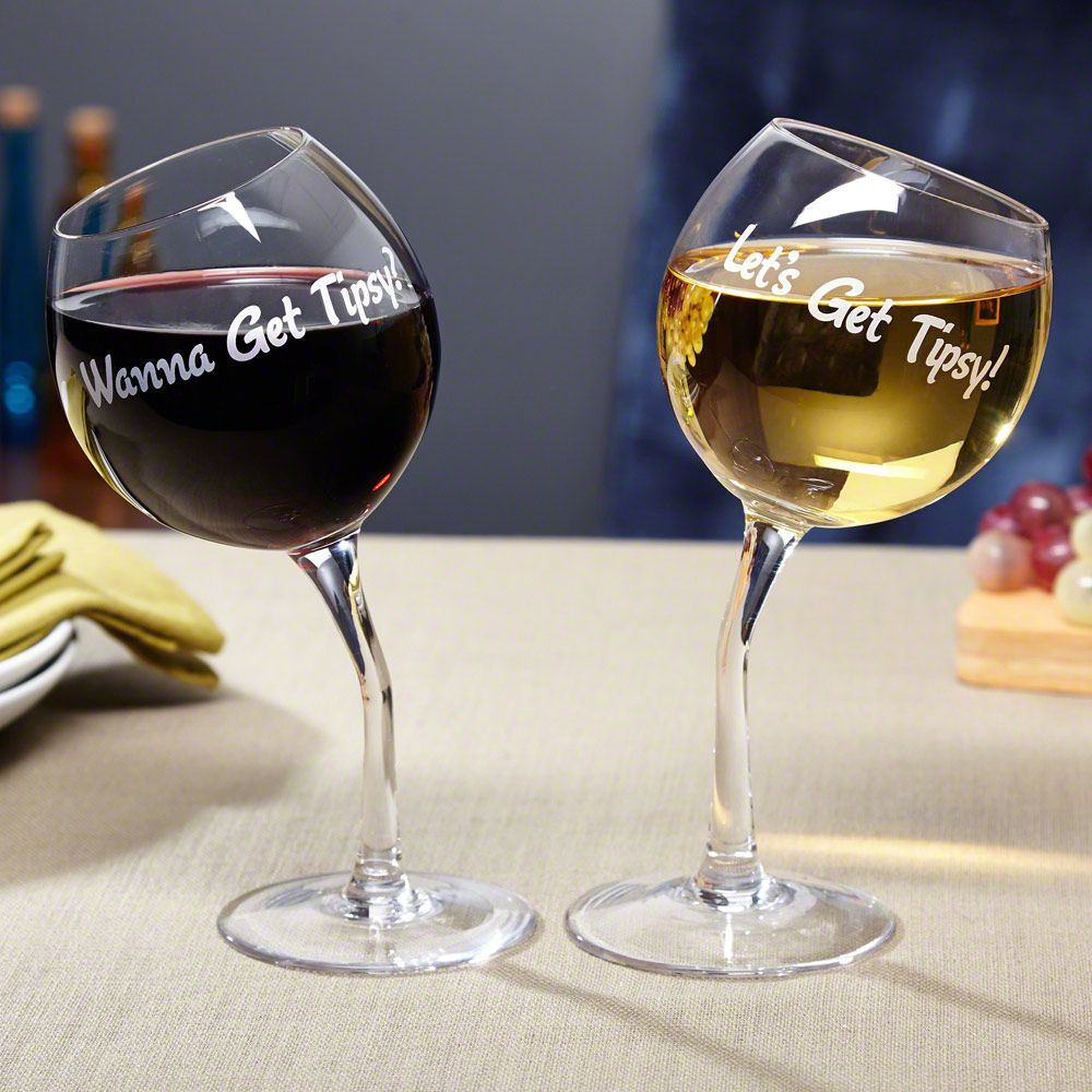 Lets Get Tipsy! Wine Glasses | Wine, Glass and Gift