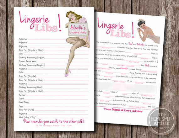 retro housewife lingerie mad libs personalized bachelorette party game bridal shower pdf printable option