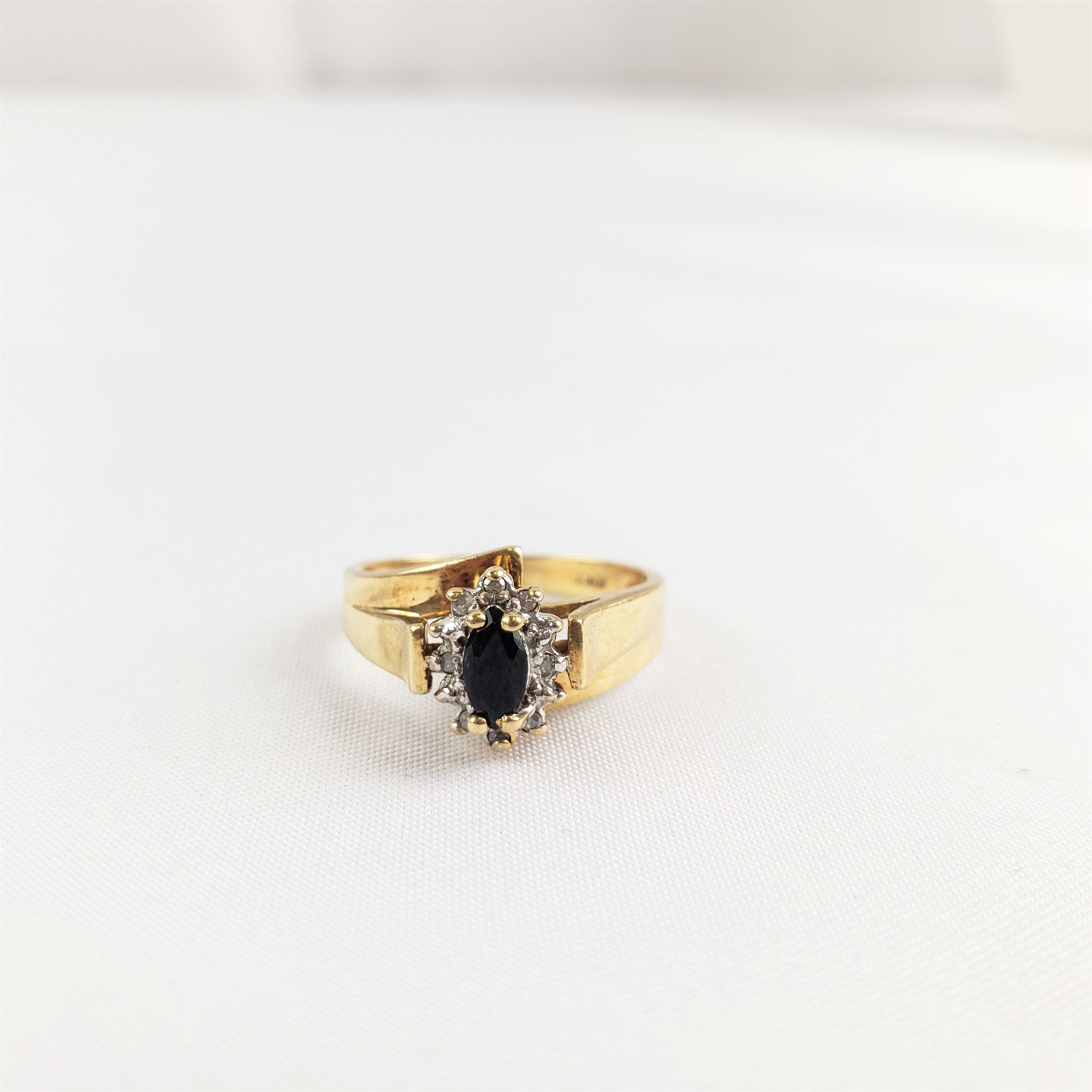 Diamond Sapphire 10kt Gold Ring 10kt Gold Ring Gold Rings 10kt Gold
