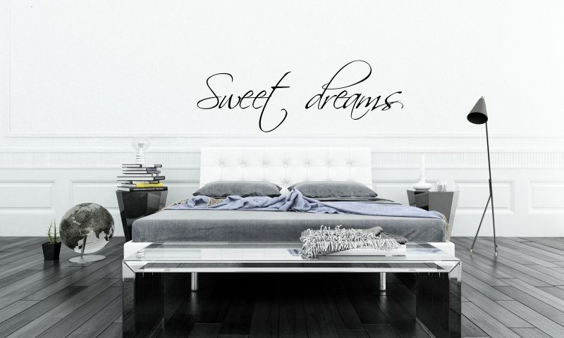Muursticker Slaapkamer Sweet dreams | Inrichting | Pinterest | Wall ...