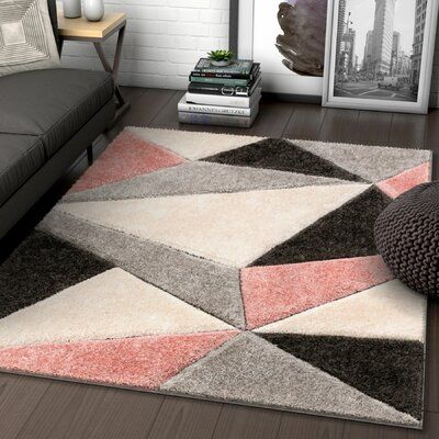 Well Woven San Francisco Shag Blush Cream Area Rug In 2020 Blush Pink Living Room Pink And Grey Rug Blush And Grey Living Room