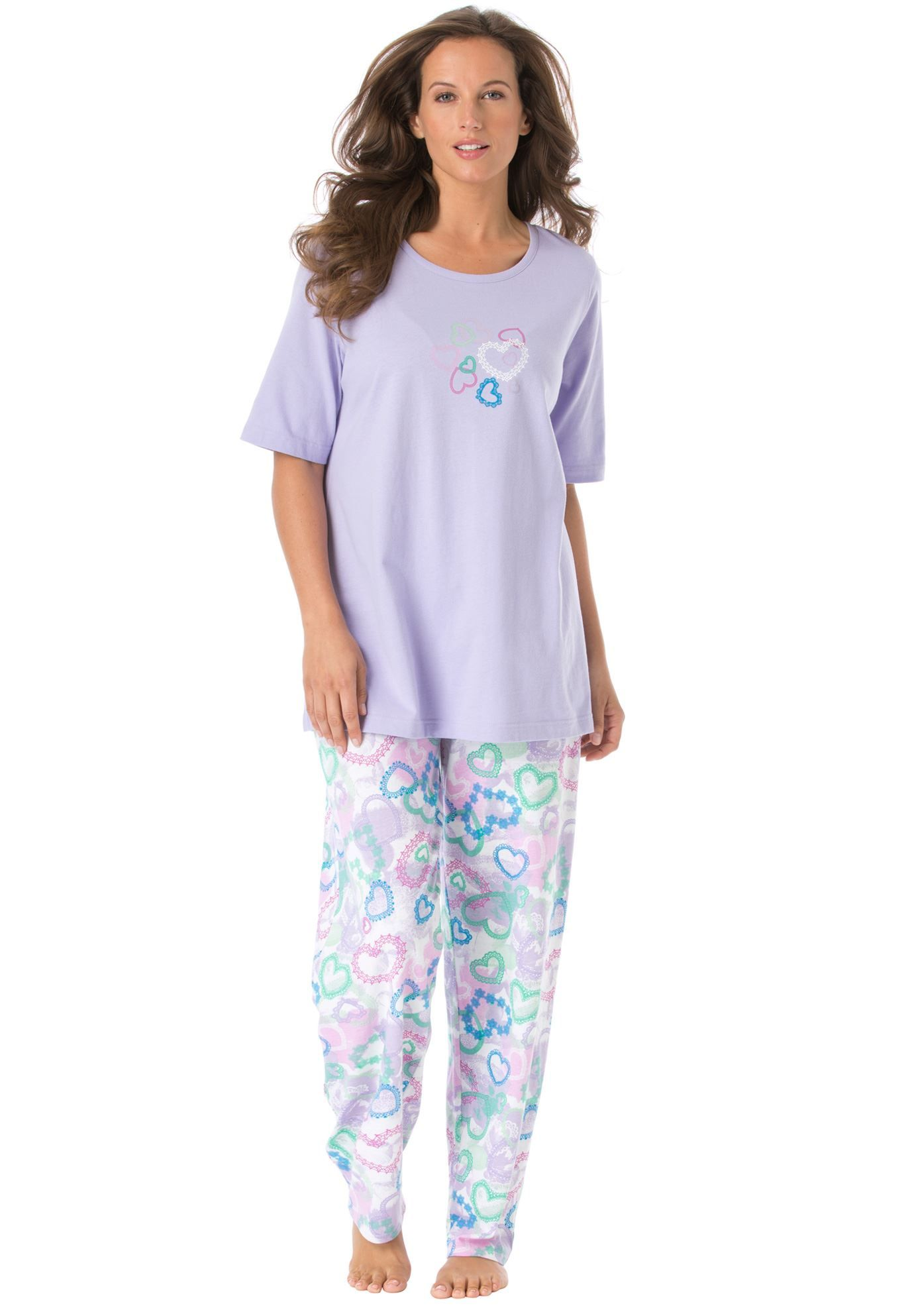 Cotton Knit Pajamas By Dreams Co Plus Size Fashion From Woman Within Fashionable Plus Size Clothing Plus Size Outfits Plus Size Fashion