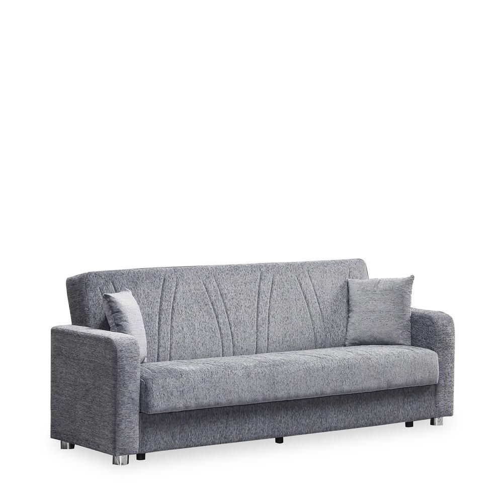 Ottomanson Elegance Gray Fabric Uphostery Sofa Sleeper Bed With