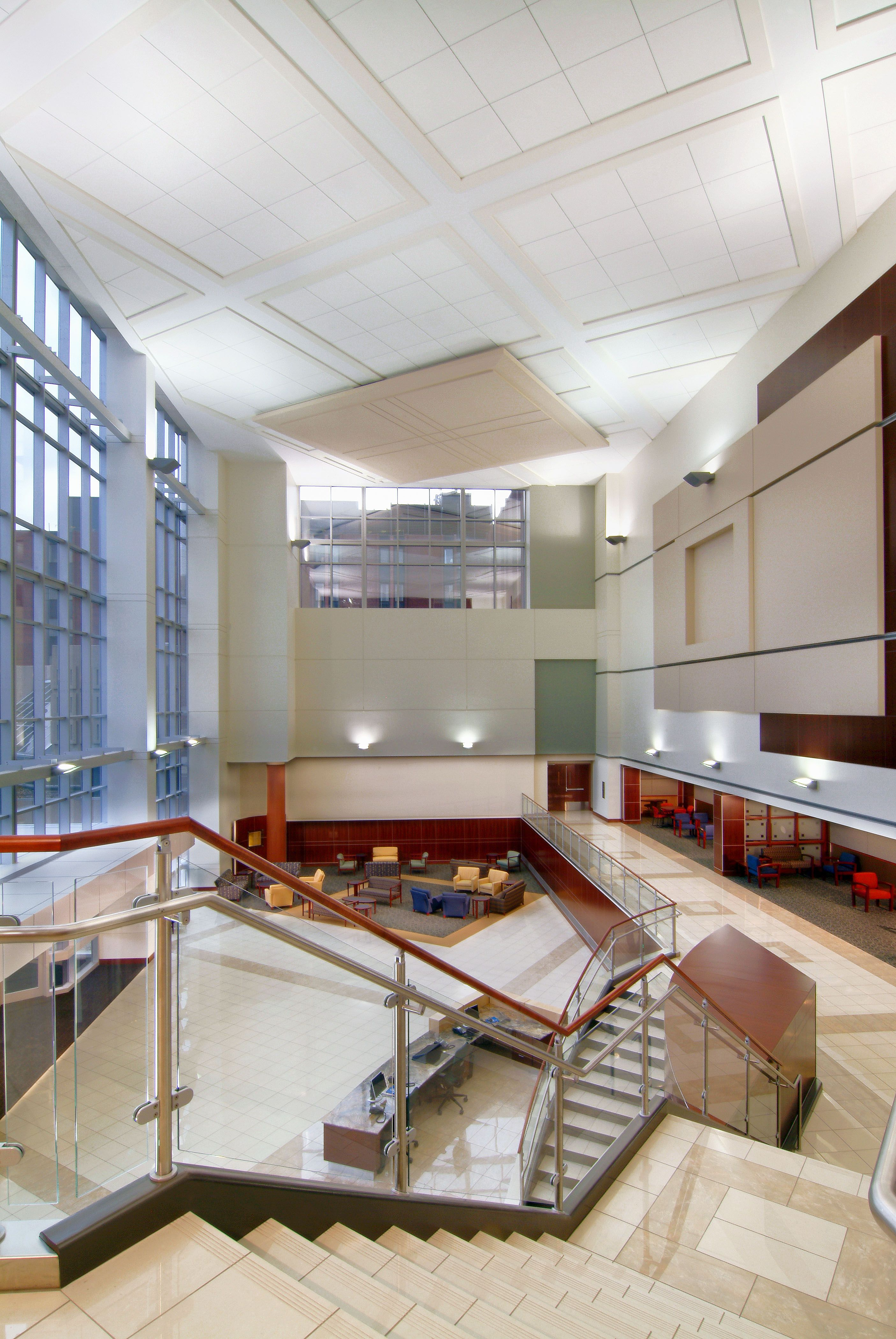 Design A Show Stopping Atrium With Marlite In 2021 Commercial Interior Design Wall Systems Interior Wall Design