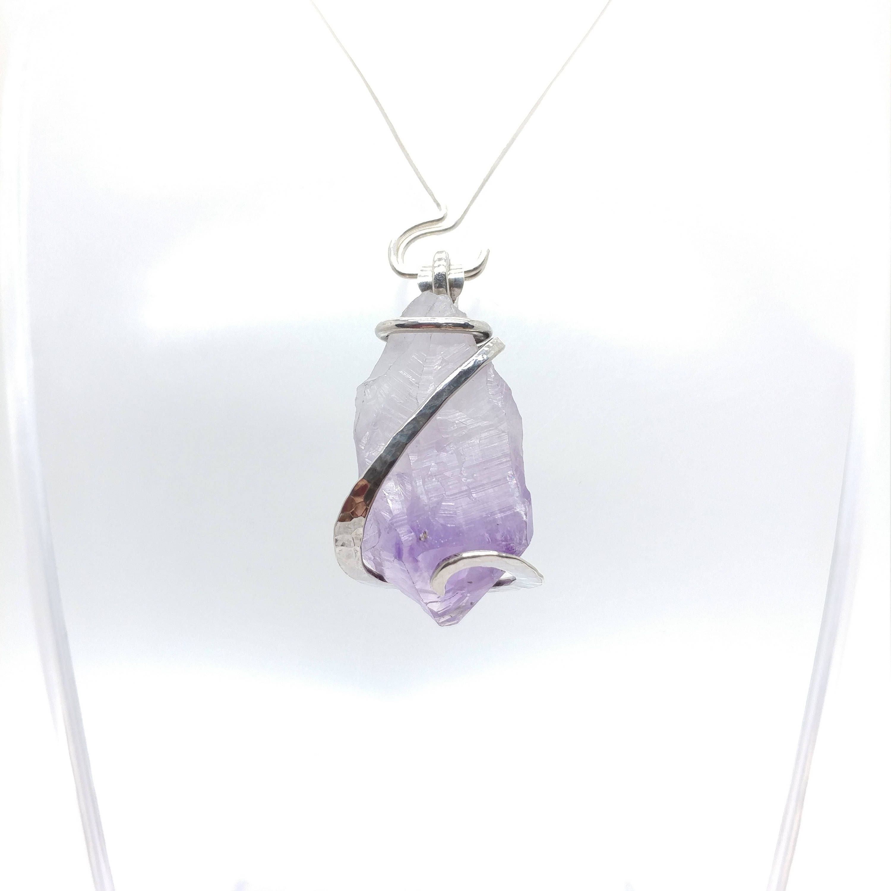 Raw amethyst crystal pendant raw amethyst crystal necklace raw raw amethyst crystal pendant raw amethyst crystal necklace raw amethyst necklace rough amethyst aloadofball Gallery