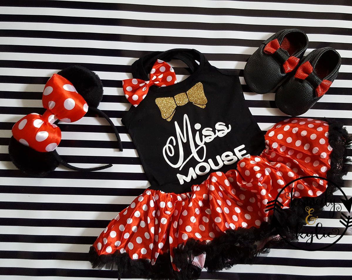 1 year outfit Minnie Mouse Birthday Girl outfit toddler outfit minnie mouse tutu red polka dot tutu birthday outfit baby girl t-shirt