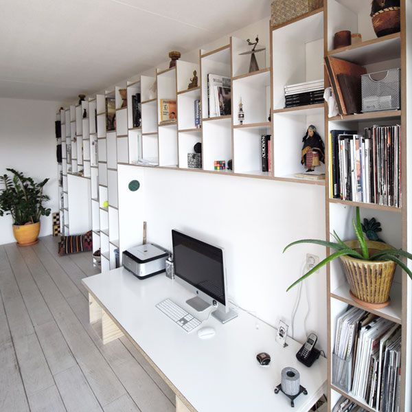 de timmerende architect boekenkast