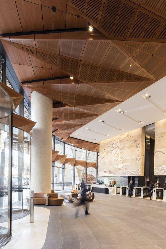 Pin by jinxin on 大堂   Lobby interior design, False ceiling ...
