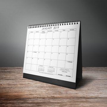Flores Design Calendar 2019 Vector Mockup Template
