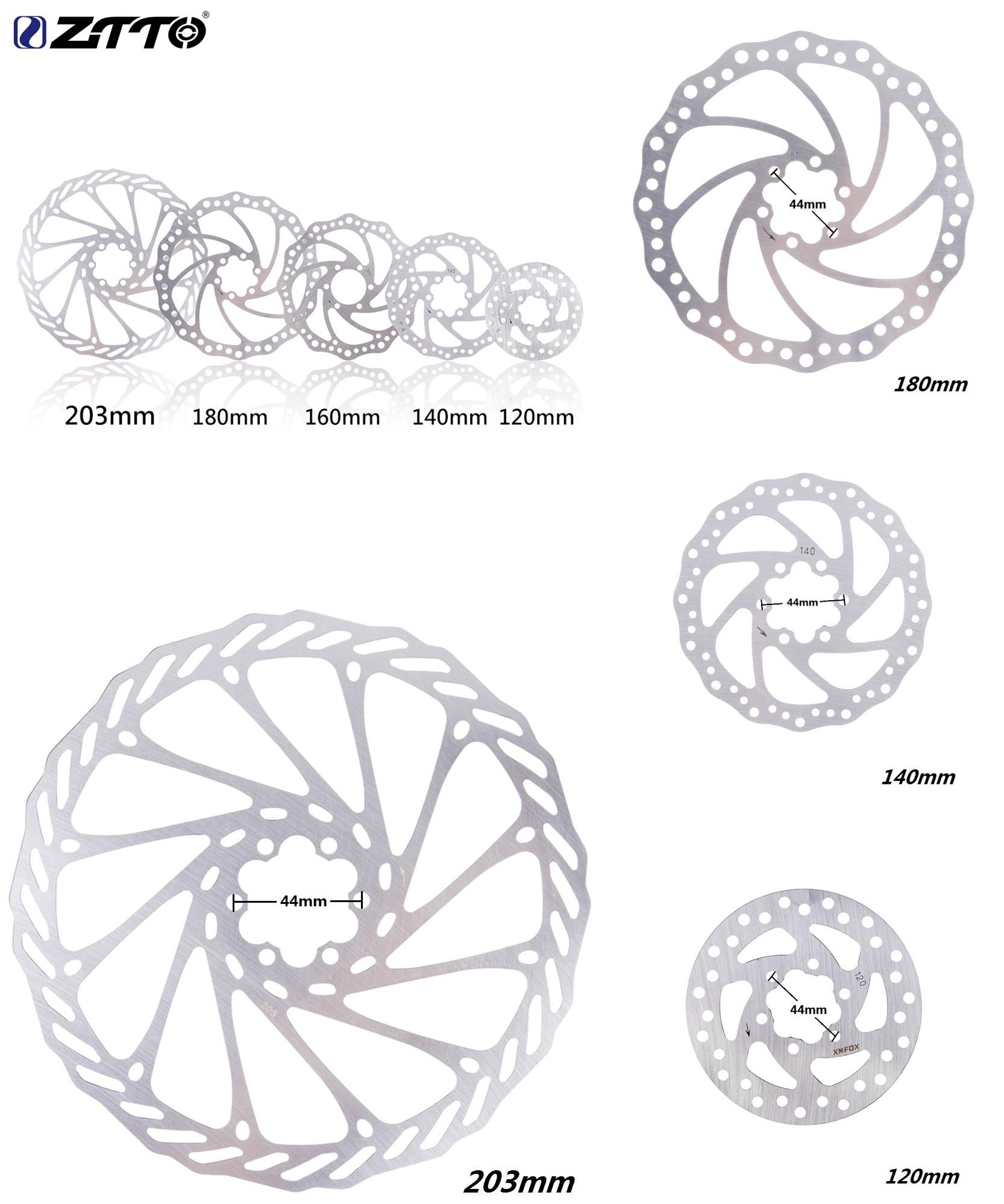 203mm//180mm//160mm//140mm//120mm ZTTO MTB Bike Bicycle Stainless Steel Rotor Disc