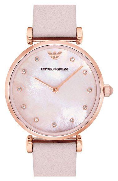 32dc5da1c Emporio Armani Emporio Armani Leather Strap Watch, 32mm available at  #Nordstrom