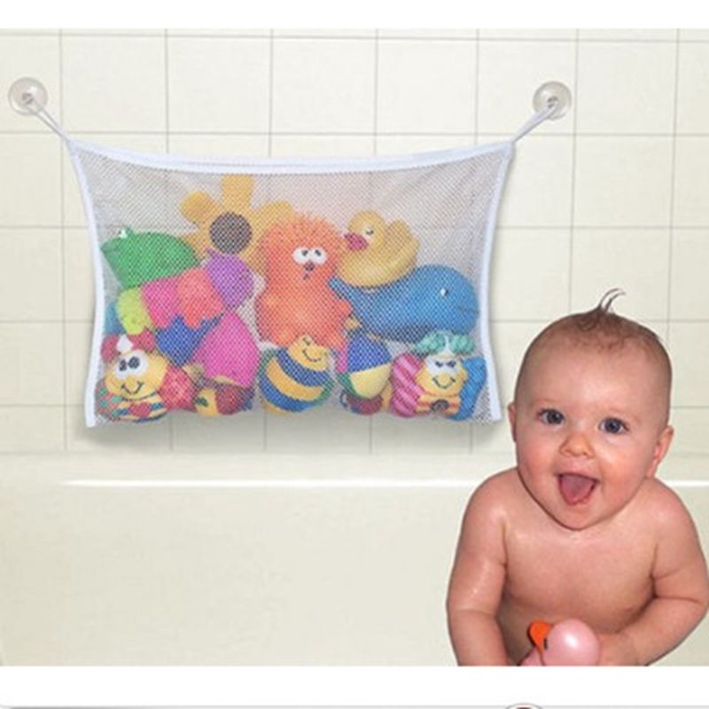 $4.56 - Cool Kids Baby Bath Tub Toy Tidy Storage Suction Cup Bag ...