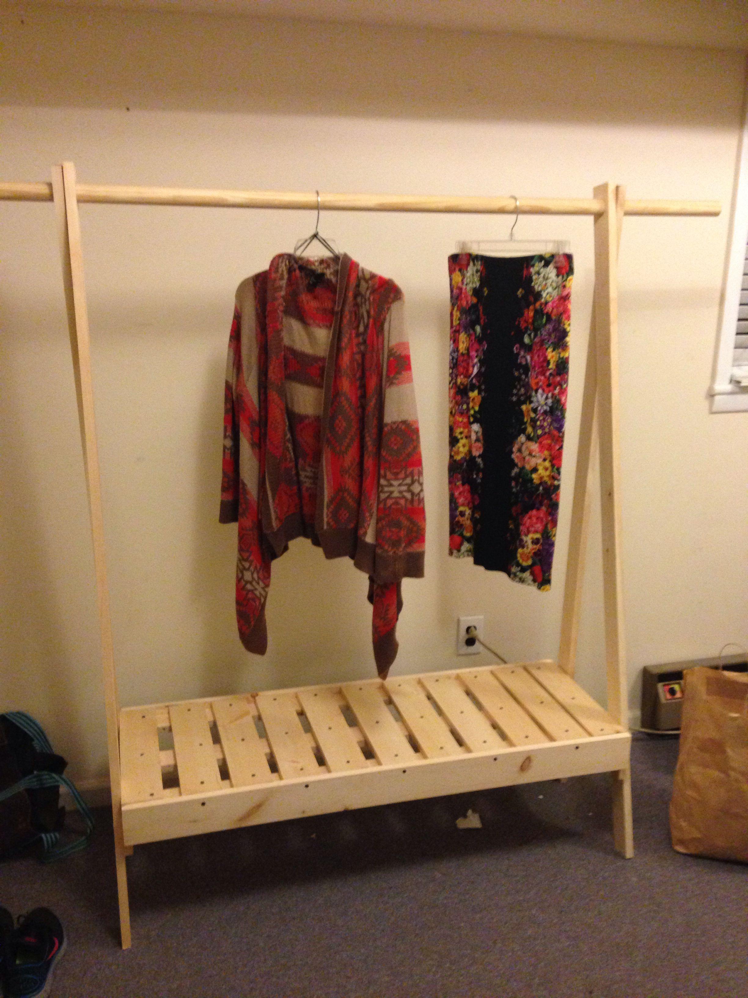 Wooden clothing rack itus a diy thing tenzeroninespot