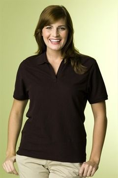 Style 8001 - CLOSEOUT COLORS Women's Organic Cotton Pique Polo 100% organic cotton, 5¼ oz. double-tuck baby pique body, solid rib knit tri....  #customapparel #uniforms  #companyclothing  #embroidered  #printed  #logo