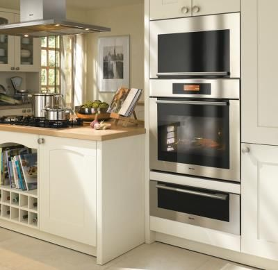 Miele appliances look great stacked! | Miele Kitchens | Pinterest ...