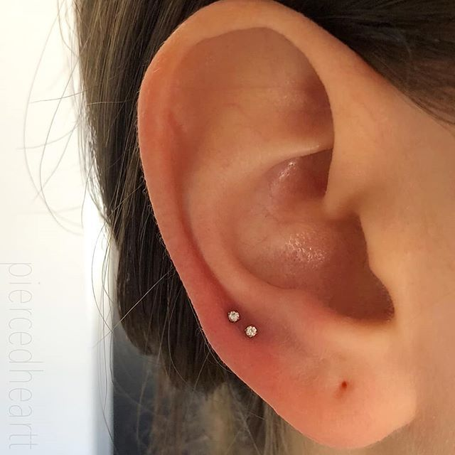 Fresh double high lobe and second lobe by @piercedheartt! The beauty in simplici..., #Beauty...