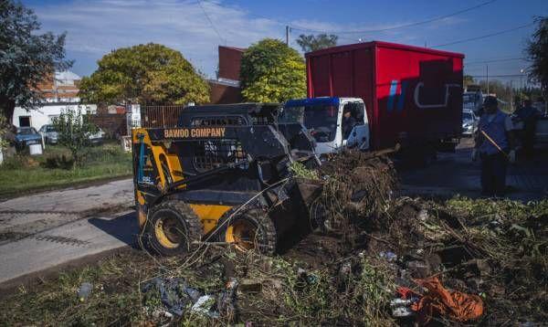 Se realizaron tareas de mantenimiento en Villanueva y El Destino