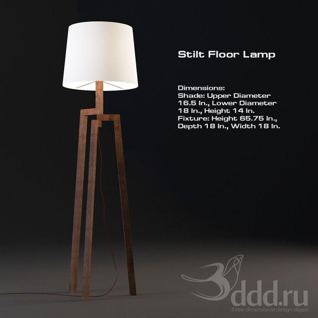 3d Models Floor Lamp Stilt Floor Lamp Lamp Floor Lamp Tripod Lamp